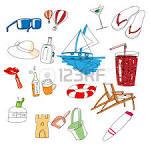 todo tipo de cosas de viaje mano dibujada dy ilustraciones
