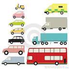 conjunto del icono de los vehiculos imagenes de archivo imagen