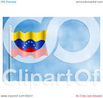 royalty free rf clipart illustration of a waving venezuela flag