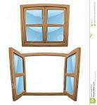 ventanas de madera de la historieta imagen de archivo imagen