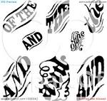 clipart black and white vintage word design elements royalty