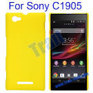 ultraslim rubberized oil coated hard case for sony xperia m c